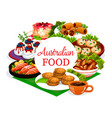 australian cuisine food menu meat and fish dishes