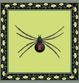 black widow color vector image vector image