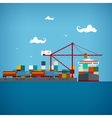 Cargo sea port vector image vector image