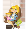 caring business mother vector image vector image