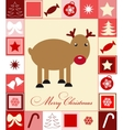 Christmas card with deer vector image vector image