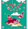 Christmas Greeting Scrap Elements Set vector image vector image