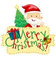 Christmas theme with Santa and christmas tree vector image vector image