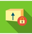 Closed box icon flat style vector image vector image