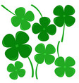 clovers sign of hope believe love and lucky vector image vector image