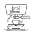 contour icon coffee machine with a mug vector image