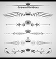 Crown Dividers Set copy vector image