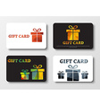 Design gift cards with abstract polygonal boxes vector image vector image