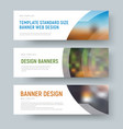 Design of standard white web banners with space vector image