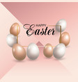 easter pink background vector image vector image