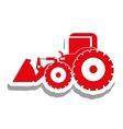 excavator heavy machinery pictogram icon image vector image