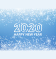 falling stars effect 2020 new year background vector image