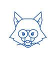 Fox head sign line icon concept fox head sign