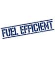 fuel efficient stamp vector image vector image