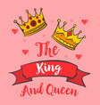 glamour king queen crown doodles vector image vector image