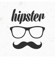 Glasses with mustache vector image vector image