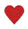 Glittering red heart shape isolated on white vector image vector image