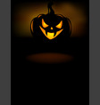 halloween party invitation with scary pumpkins vector image