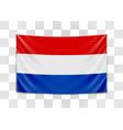 hanging flag netherlands netherlands holland vector image vector image