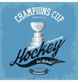 Hockey trophy or cup for t-shirt print vector image vector image