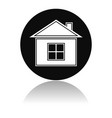 home icon round black icon of a resedential house vector image