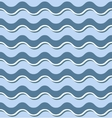 Horizontal blue waves seamless pattern vector image vector image