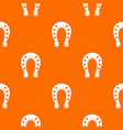horse shoe pattern seamless vector image vector image