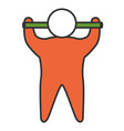 human silhouette lifting bar
