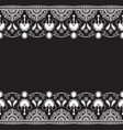 indian mehndi henna line lace element with vector image vector image