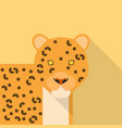 leopard icon set of great flat icons design vector image