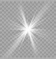 light rays sun star shine flash radiance effect vector image vector image