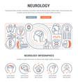 linear banner neurology vector image