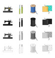 machine sewing equipment and other web icon in vector image vector image