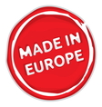 Made In The EU Stamp vector image