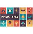 magic types - set of flat design infographics vector image