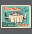 marriage celebration wedding party organization vector image vector image