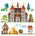 Medieval kingdom element vector image vector image