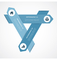 Modern infographic for business project vector image vector image