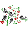 of birds on a branch vector image