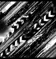 offroad grunge tyre prints black pattern vector image vector image