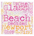 oregon coast town revisits glory glass floats vector image vector image