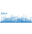 Outline Lahore Skyline with Blue Landmarks vector image vector image