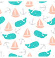 pattern with boats vector image vector image