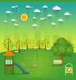 playground natural landscape in the flat stylea vector image vector image