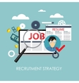Recrutment Strategy Business Concept External vector image