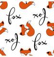 seamless of scandinavian foxes vector image