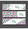 set of banners with triangle pattern vector image vector image