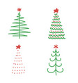 set of christmas trees flat icons vector image
