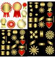 set of decorative patterned awards vector image