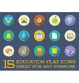 Set of Education Flat Icons can be used as Logo or vector image vector image